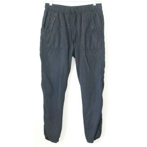 Country Road Pants Black Lyocell Joggers Twill